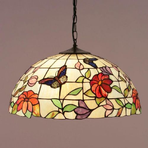 Butterfly Large Pendant (Nature, Tiffany Studio, Traditional, Pendant) TV158LP (Tiffany style)